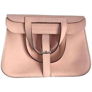 正品 未使用全新 Hermes Halzan Mini P1 Rose Eglantine 微嗇粉斜揹5用袋