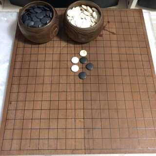 日本蛤碁石圍棋帶棋盤