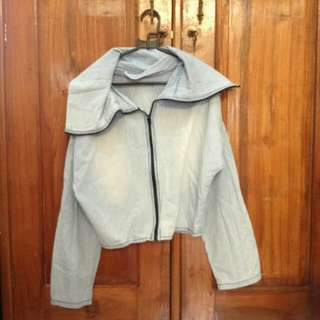 Jaket Denim Crop tee