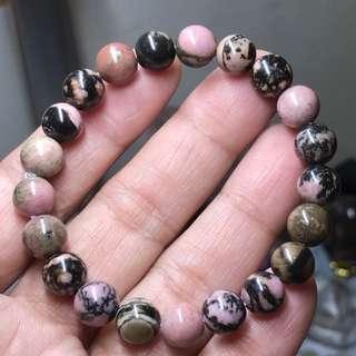 Rhodonite crystal Bracelet
