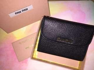 100%Real & New-Miu Miu 短銀包(有盒+有單)