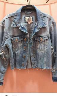 Denim acid forever21 jacket