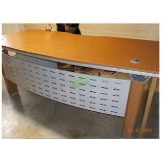 L TYPE EXECUTIVE TABLE BEECHWOOD COLOR WITH SIDE CABINET
