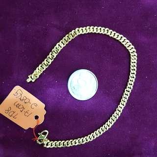 916 Gold Bracelet 16.5cm