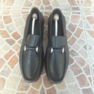 AUTHENTIC MADE IN SPAIN Sandrino Moscoloni Horsebit Leather Loafers For Men