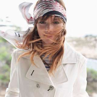 Windswept Chic in a Headscarf