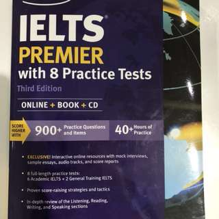 Kaplan IELTS Premier : With 8 Practice Tests (3rd Paperback + CD-ROM + )