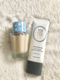2 bottles Holika Holika BB Cream + Etude House Matte