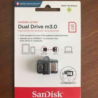 SanDisk Ultra Dual Drive m3.0 16GB
