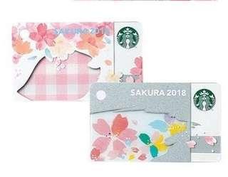 Preorder Sakura japan mini card 2018