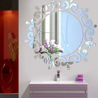 Room Acrylic Decal Art DIY Mirror Decor 3D Wall Sticker