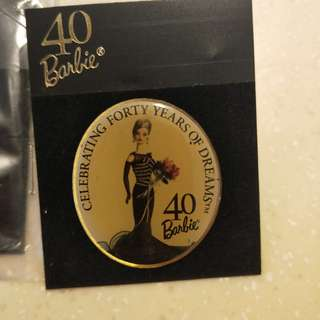 Barbie 40 years commemorative pin/button