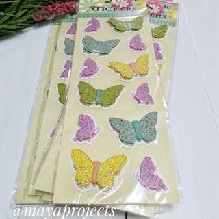 2D Shimmering Butterfly Sticker