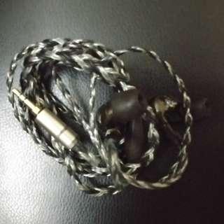 16芯8線單晶铜纯銀混編舒爾升級線+DIY六單元846