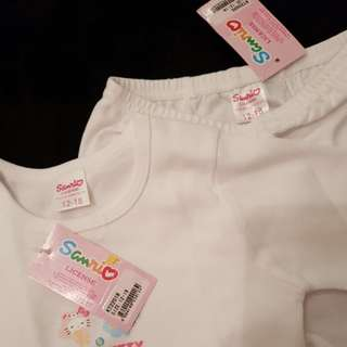SALE! New White Hello Kitty Two-Piece Sleepwear Pajamas Set (Long Sleeve)