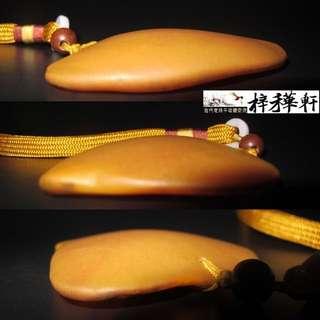 【原石】新彊和田戈壁玉 - 天然雞心形黃玉珮