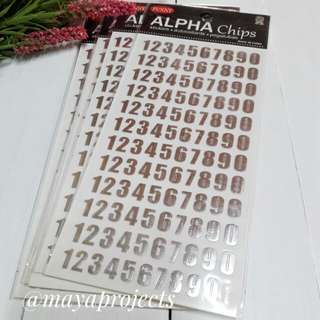 Numbers Sticker Silver