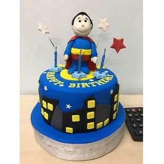 superman birthday fondant cake