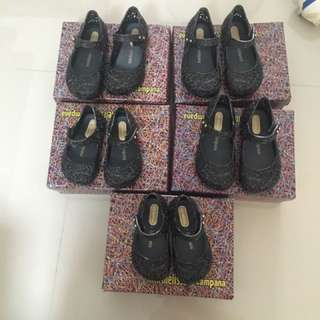 Mini Melissa size 5,7(left only 3 pairs)