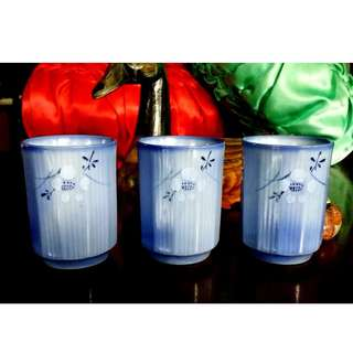 3 PCS JAPAN CERAMIC TEA CUPS