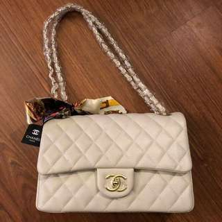 Chanel Cream colour with Scarf