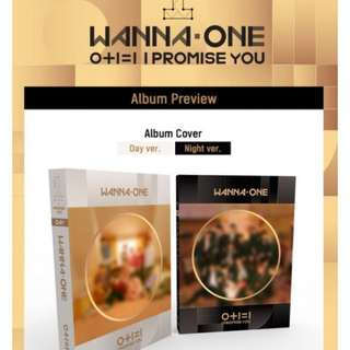 [1st Batch Promotion 第一批促销] WANNA ONE Mini Album Vol. 2 - 0+1=1 (I PROMISE YOU) (Day / Night Ver) (可选 Day 或 Night)