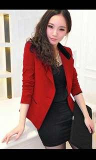 Elegant Red Blazer