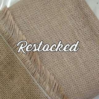 JUST RESTOCKED : Burlap Fabric (1M X 1.2M)