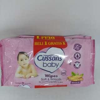 BUY 1 Get 1 Tisu Basah CUSSONS baby Wipes