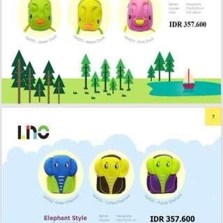 NEGO - tas anak elephant & duck