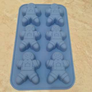 10033 - Ginger Bread Man Silicone Mold