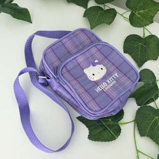 Small Hello Kitty Plaid / Tartan Side Bag