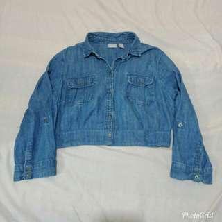 Soft Denim Crop Top Jacket