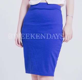 Rok Pensil / Pencil Skirt Biru