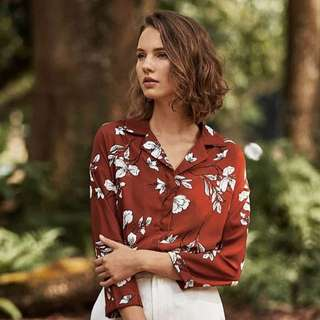 Theclosetlover Colleen Floral Printed Shirt