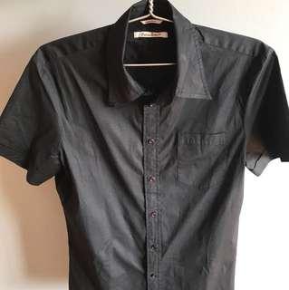 Guess black shirt sleeve shirt