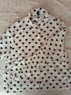 #Feb50 H&M Love Printed Croptop Blouse