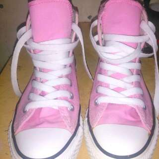 Authentic high cut pink converse