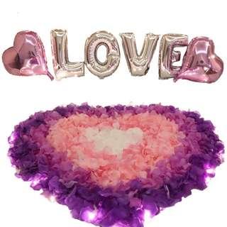 生日惊喜浪漫布置婚房求婚创意布置用品求爱表白假玫瑰花瓣情人节