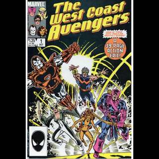 THE WEST COAST AVENGERS #1 (1985) First issue!