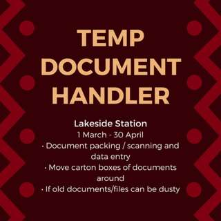 TEMP DOCUMENT HANDLER!!! EASY AND SIMPLE JOB ((: