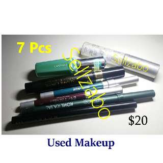 Bundle (2) : Used Urban Decay Canmake Loreal Catrice Kate Eye Liners Pencils Used Cosmetics Makeup Beauty Face Welfare