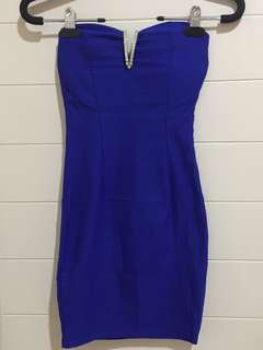 BLUE SEXY BODYCON DRESS