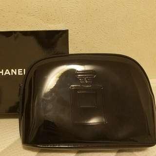 CHANEL 光身化妝袋 (双面圖案/全新)