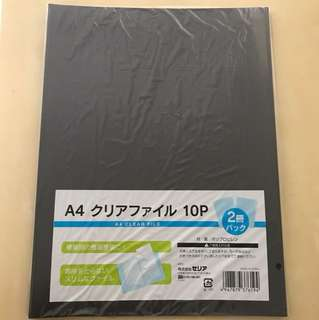 A4 Clear File