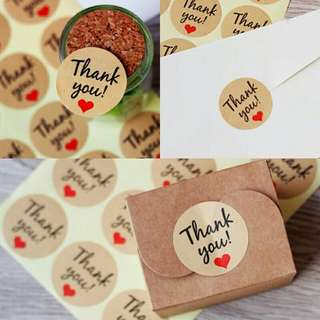 Thank You Stickers Labels Sealing Craft Wedding Christmas Party Favours