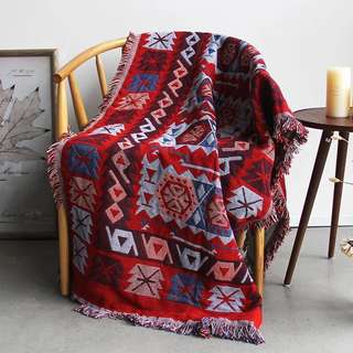 紅色流蘇sofa 毯/ 地毯