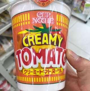日清新出品蕃茄味杯面
