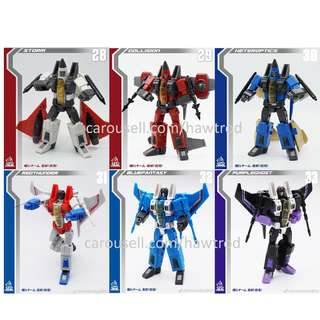 [Preorder] Mech Fans Toys, F-01 + F-02 Overlord in the Air, Set of 6 Seekers & Coneheads