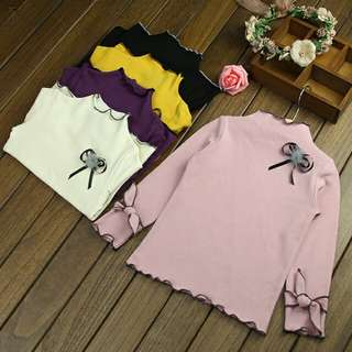 Long Sleeve Top with Ribbon